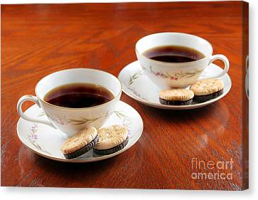 Coffee And Cookies Canvas Print by Darren Fisher