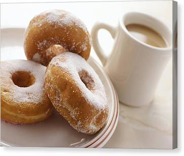 Coffee And Doughnuts Canvas Print by Erika Craddock