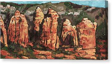 Coffee Pot Rock Canvas Print by Sandy Tracey