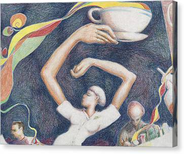 Coffee Canvas Print by Vincent Randlett III