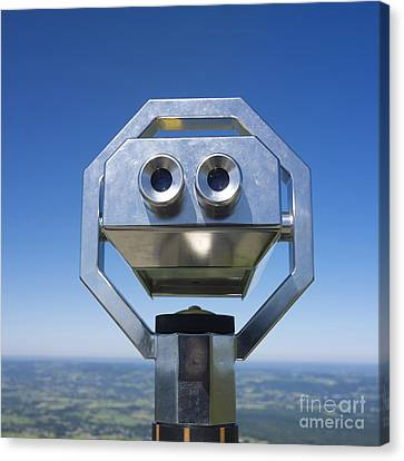 Coin-operated Binoculars Canvas Print by Bernard Jaubert