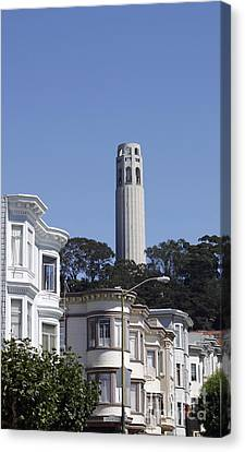 Canvas Print featuring the photograph Coit Tower by Denise Pohl