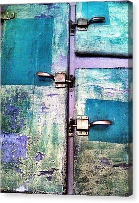 Cold Locker Canvas Print by Olivier Calas