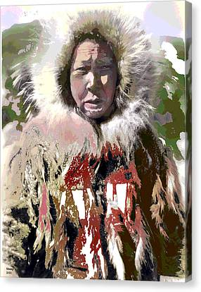 Cold Man Canvas Print by Charles Shoup