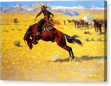 Cold Morning On The Range Canvas Print by Pg Reproductions