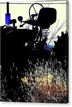 Cold Morning Tractor  Canvas Print by Joe Jake Pratt