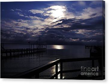 Canvas Print featuring the photograph Cold Night On The Water by Clayton Bruster