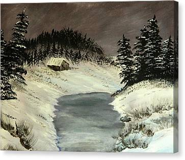 Cold Out There Canvas Print by Everette McMahan jr