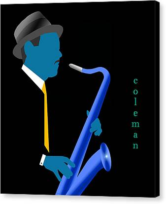 Canvas Print - Coleman Hawkins Blue by Victor Bailey