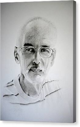 Canvas Print featuring the drawing Colin by Lynn Hughes