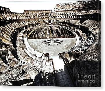 Coliseum  - Bleached Version Canvas Print by Gregory Dyer