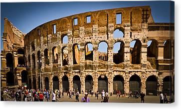Coliseum Facade Canvas Print by Jon Berghoff