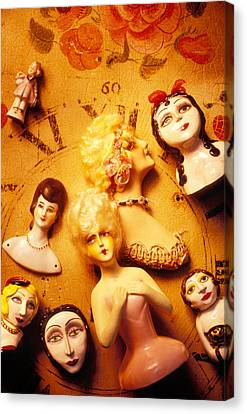 Collectable Dolls Canvas Print by Garry Gay
