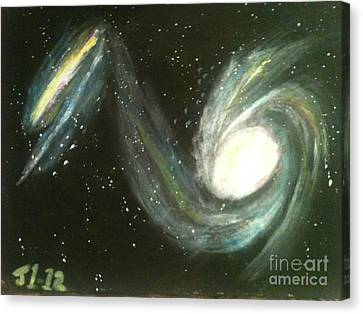 Colliding Galaxies Canvas Print by James Courtney