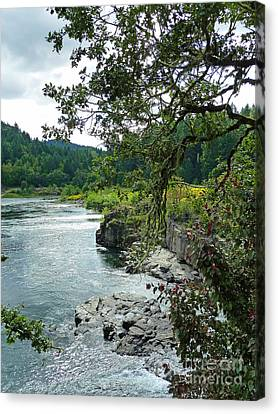 Colliding Rivers Canvas Print by Methune Hively