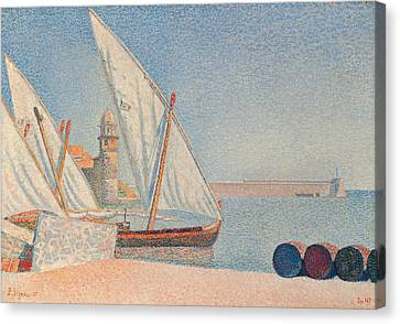 Collioure Les Balancelles Canvas Print by Paul Signac