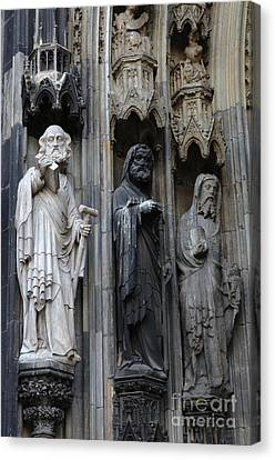 Cologne Cathedral Statues Canvas Print by Bob Christopher