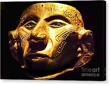 Colombian Gold Mask  Canvas Print by Alexandra Jordankova