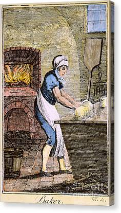 Colonial Baker, 18th C Canvas Print by Granger