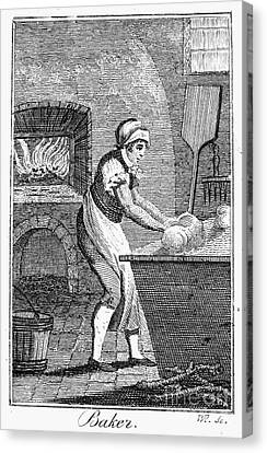 Colonial Baker, C1800 Canvas Print by Granger