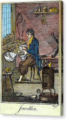 Colonial Jeweller, 18th C Canvas Print by Granger