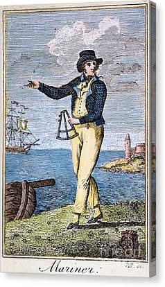 Colonial Mariner, 18th C Canvas Print by Granger