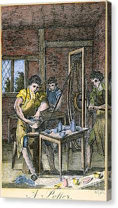 Colonial Potter, 18th C Canvas Print by Granger