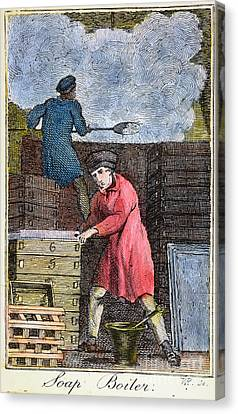 Colonial Soapmaker, 18th C Canvas Print by Granger