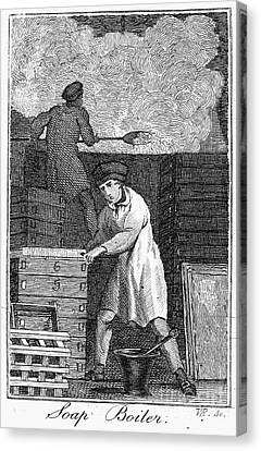 Colonial Soapmaker Canvas Print by Granger