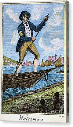 Colonial Waterman, 18th C Canvas Print by Granger