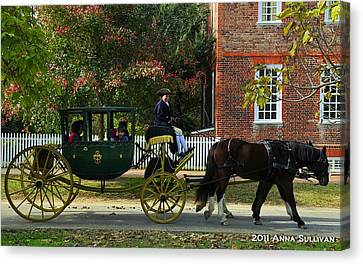 Colonial Williamsburg Carriage Canvas Print by Anna Sullivan