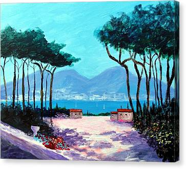 Color And Light Of The Mediterranean Canvas Print by Larry Cirigliano