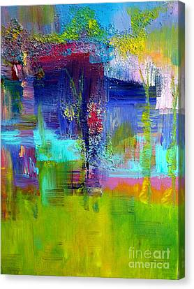 Color Blocks Canvas Print by Claire Bull