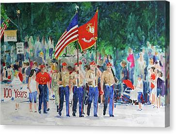 Color Guard Canvas Print by William Tockes