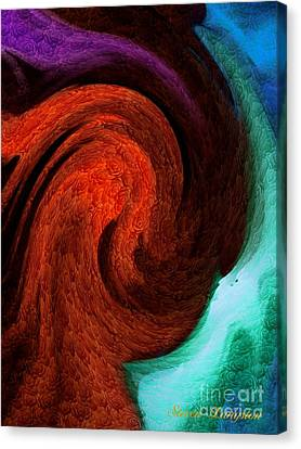 Canvas Print featuring the painting Color In Motion With A Kick by Steven Lebron Langston