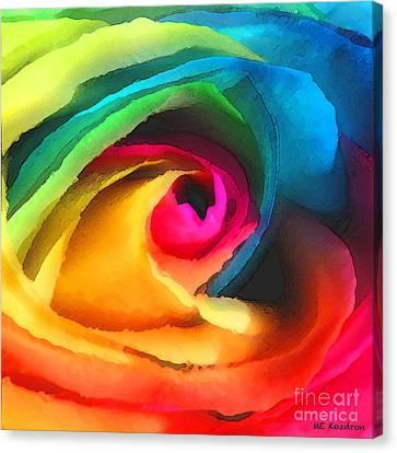 Color Launch Canvas Print by ME Kozdron