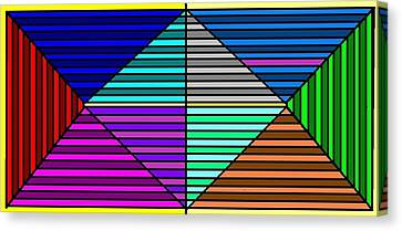 Color Lines Canvas Print by Rachael McIntosh