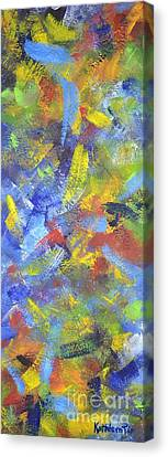 Color Movement Canvas Print by Kathleen Pio