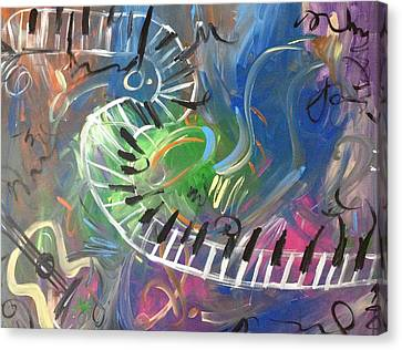 Color Of Music Canvas Print by Audreyanna Garrett