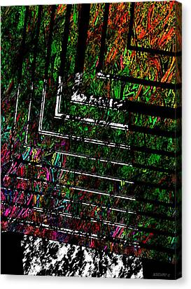 Color Over Black And White Canvas Print by Mario Perez