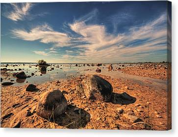 Canvas Print featuring the photograph Color Rockscape by Coby Cooper