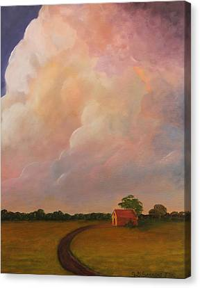 Canvas Print featuring the painting Color Storm by Janet Greer Sammons