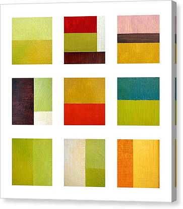 Color Study Abstract Collage Canvas Print by Michelle Calkins