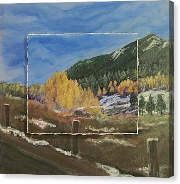 Colorado Almost Winter Canvas Print by Anita Burgermeister