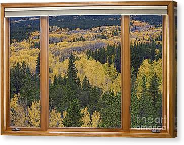 Colorado Autumn Picture Window Frame Art Photos Canvas Print by James BO  Insogna