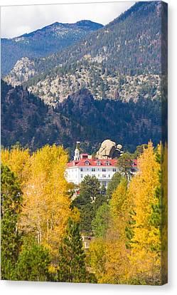 Colorado Estes Park Stanly Hotel Autumn View Canvas Print by James BO  Insogna