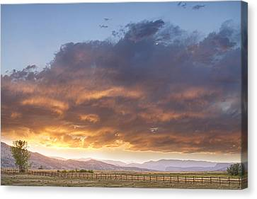 Colorado Evening Light Canvas Print by James BO  Insogna