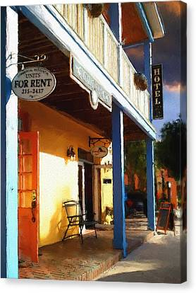 Canvas Print featuring the painting Colorado Hotel by Robert Smith