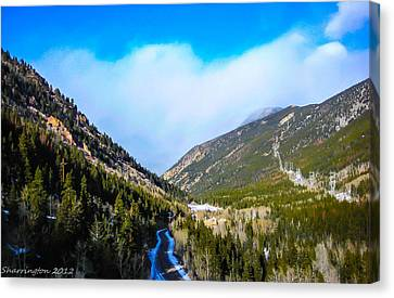 Canvas Print featuring the photograph Colorado Road by Shannon Harrington