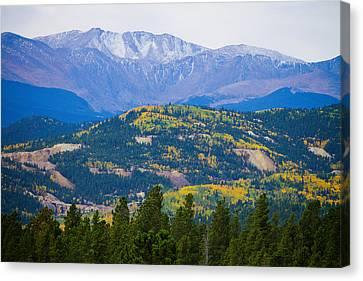 Colorado Rocky Mountain Autumn View Canvas Print by James BO  Insogna